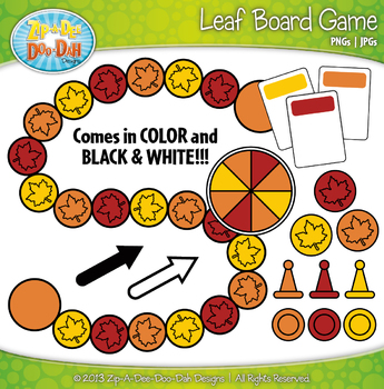 Leaf Build A Board Game Clipart {Zip-A-Dee-Doo-Dah Designs}