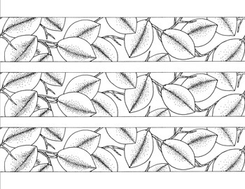 Leaf Bulletin Board Border Printable Black and White PDF