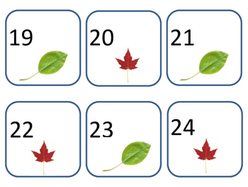 Leaf Calendar Pieces