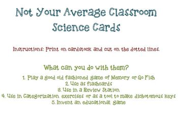 Leaf Cards for Categorizing and Making Dichotomous Keys Leaves Memory Card Game