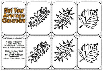 Leaf Cards for Categorizing and Making Dichotomous Keys Le