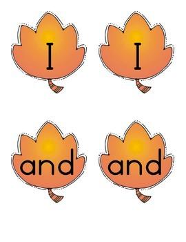 September - Caterpillar Sight Word Game