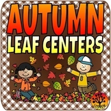 Leaf Centers Autumn Fall Centers Leaves Math Literacy Counting Beginning Sounds