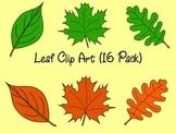 Leaf Clip Art (16 Pack)