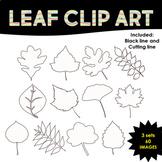 Leaves Clip Art Black and White | 60 Images | TeKa Kinderland