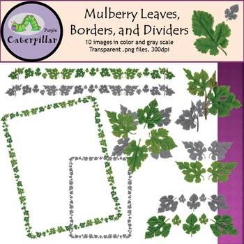 Leaf Clip Art, Leaf Boarder, and Leaf Dividers ~ Mulberry