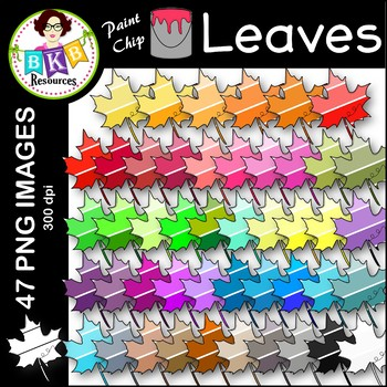 Leaf Clip Art ● Paint Chip Leaves ● Clip Art