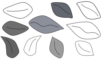 Leaf Clip Art (black and white)