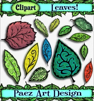 Leaf Clipart {PAEZ ART DESIGN}
