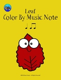 Leaf Color By Music Note Rhythm Coloring - Quarter Note/Ei