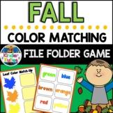 Leaf Color Match Up File Folder Game
