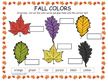 Leaf Color Words