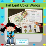 Fall Leaf Color Words