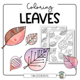 Fall Coloring Activity: Leaf Coloring Pages & Painting Ideas