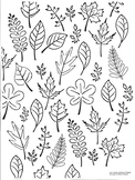 Leaf Coloring Sheet