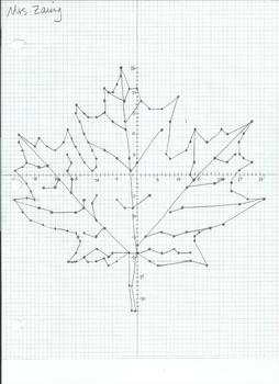 Leaf Coordinate Plane Picture