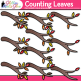 Leaf Counting Clip Art {Autumn Counting and Sorting Manipu