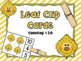 Leaf Counting Clip Cards