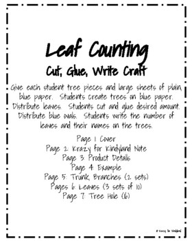 Spring, Summer, Fall/Autumn Craft: Leaf Counting (Back to School Math)