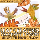 Leaf Creatures Fall Activities for Diamante Poetry, Craft