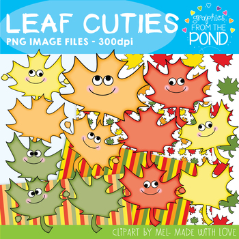 Leaf Cuties - Clipart for Teachers and Classrooms