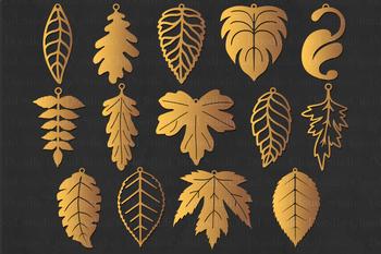 Leaf Earrings SVG, Leaf Tear Drop SVG, Pendant Leaf SVG files.