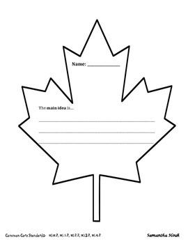 Leaf Exit Slip Graphic Organizer Response to Reading
