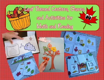 Leaf Fall Autumn Centers, Games, and More for Math and Reading
