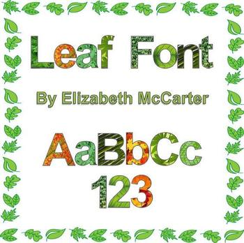 Font Clip Art: Leaves (spring, summer, fall)