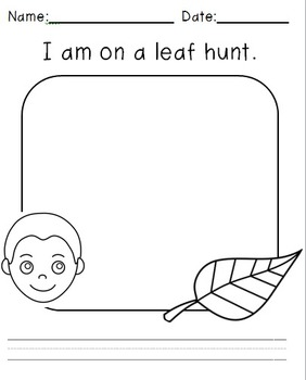 Leaf Hunt 5 Senses Writing Packet