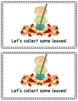 """""""Leaf Hunt"""" Fall Themed Emergent Reader (numbers 1-10 and colour words)"""