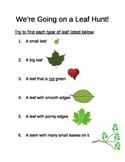 Leaf Hunt Sheet