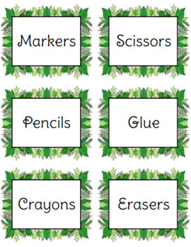 Leaf Labels and Table Numbers (Jungle Theme)