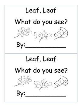 Leaf, Leaf What do you see? {Color Word Emergent Reader}