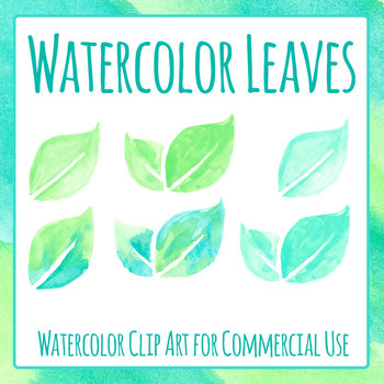 Leaf / Leaves Handpainted Watercolor Clip Art for Commercial Use