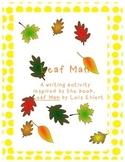 Leaf Man Autumn Writing Lesson and Craftivity