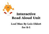 Leaf Man Interactive Read Aloud Unit