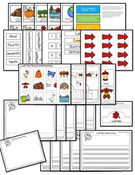 Leaf Man Sequence and Retelling Cards (Math and Literacy)