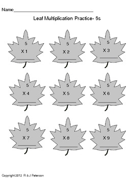 Leaf Math Activities
