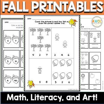 Leaf Math, Literacy, & Art