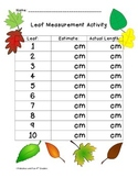 Leaf Measurement with centimeters