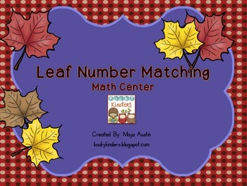 Leaf Number MatchingMath Center