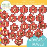 Leaf Number Tile Clip Art {MOVEABLE IMAGES}