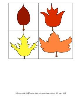 Leaf Pattern Worksheets and Activity set