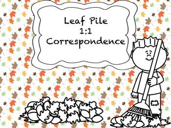 Leaf Pile 1:1 Correspondence (No Prep, Just Print!)