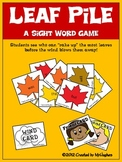 Sight Word Games - Leaf Pile