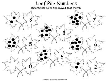 Leaf Pile Numbers: Math Fun for Kindergarten