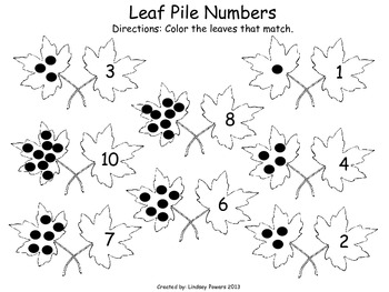 Leaf Pile Numbers: Math Fun for Kindergarten