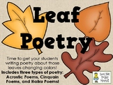 Leaf Poetry - Writing Acrostic, Cinquain, and Haiku Poetry