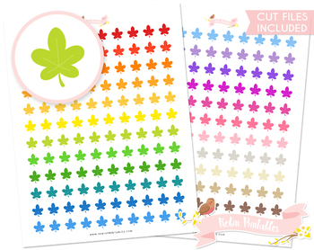 Leaf Printable Planner Stickers